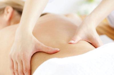 massage bien-être du dos et des lombaires